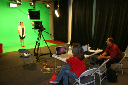 Greenscreen in studio