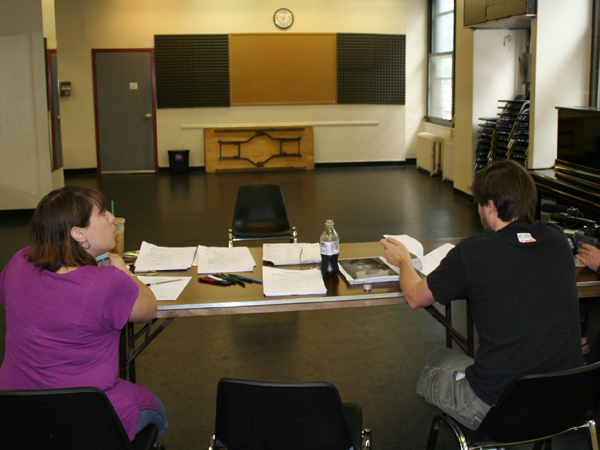 In the audition room
