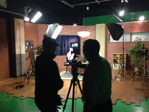 corporate video production in studio