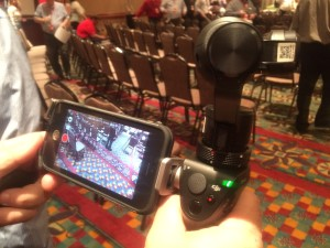 DJI Osmo at a corporate video event