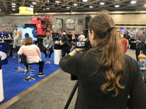 Shooting video at tradeshow