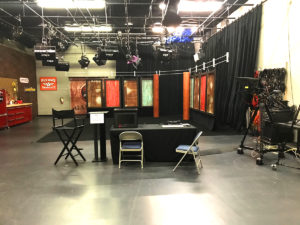 video studio a news set