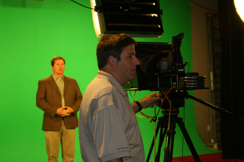 Shooting Greenscreen with Prompter